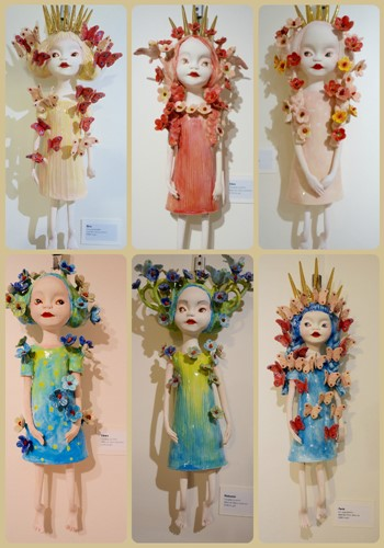 Hanging Ceramic Dolls