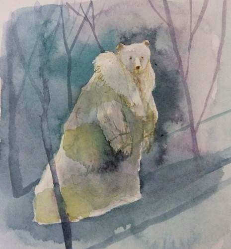 Bear in Winter Coat