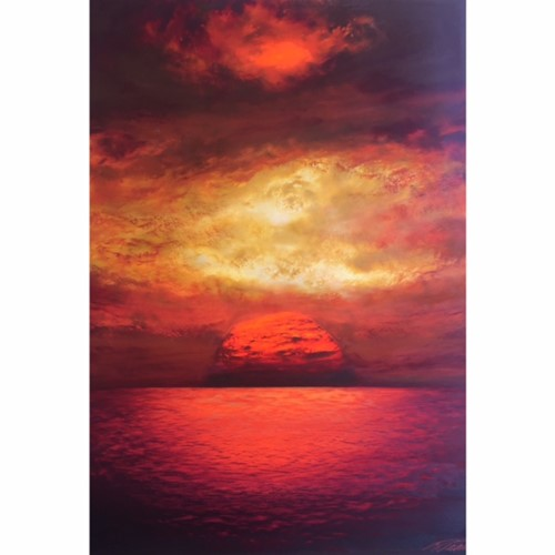 Island with Red Cloud