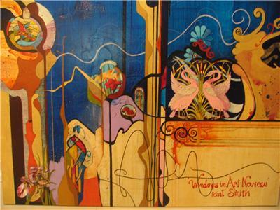 art nouveau artists. Windows in Art Nouveau. Artist